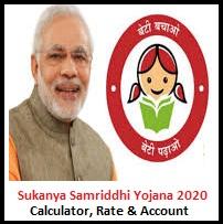 Sukanya Samriddhi Yojana 2020 Rate Calculator