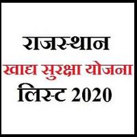 खाद्य सुरक्षा योजना राजस्थान 2020