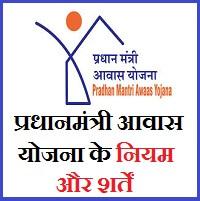 प्रधानमंत्री आवास योजना के नियम और शर्तें