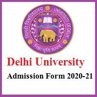 Delhi University Admission Form 2020