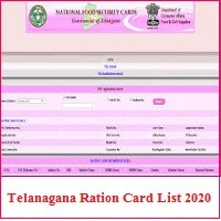 Telangana Ration Card New List 2020